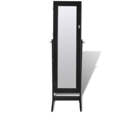 schwarzer spiegelschrank mit schmuckst nder mit led licht g nstig kaufen. Black Bedroom Furniture Sets. Home Design Ideas