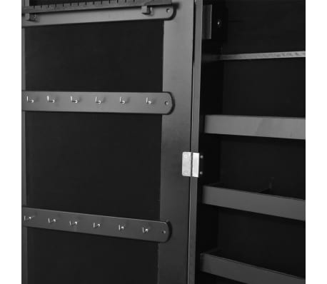 Black Free Standing Jewellery Cabinet With Led Light And
