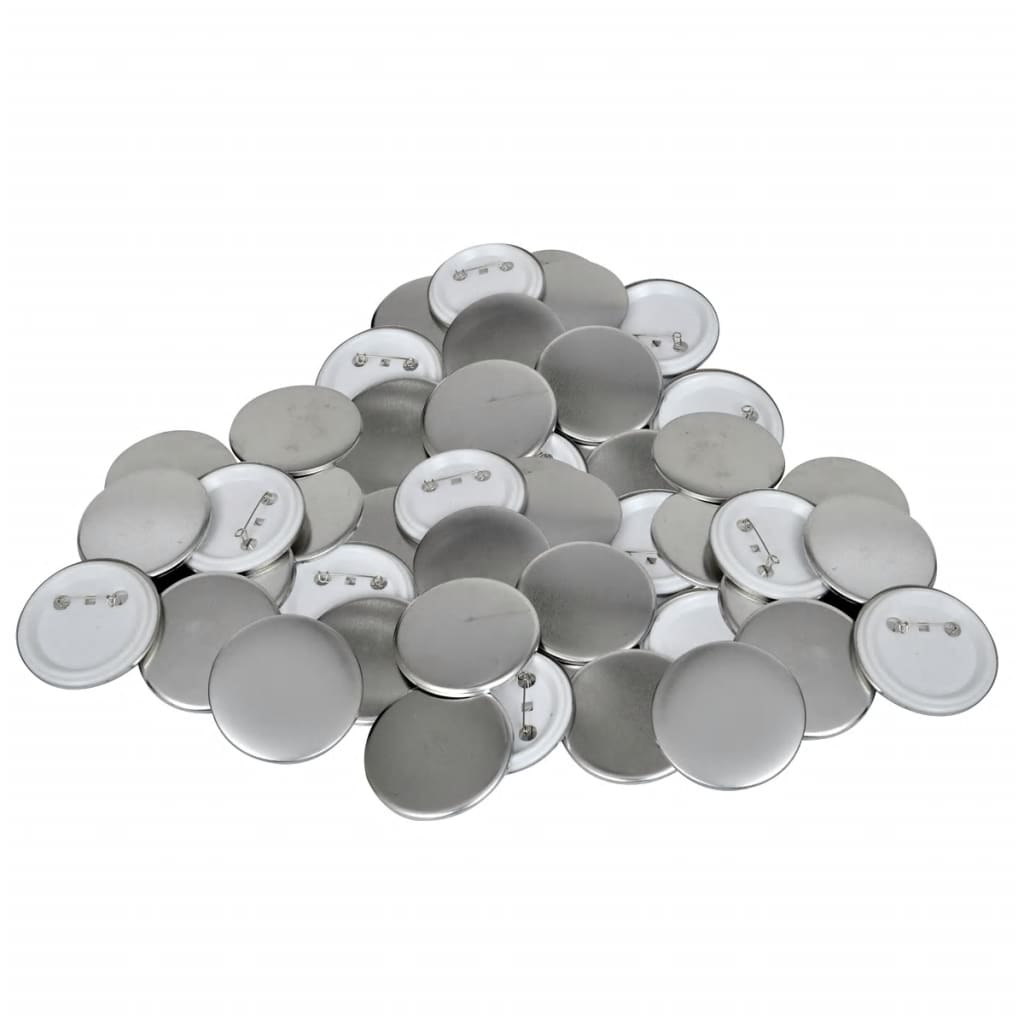 vidaXL 44 mm PinBack Button Parts 500 Sets