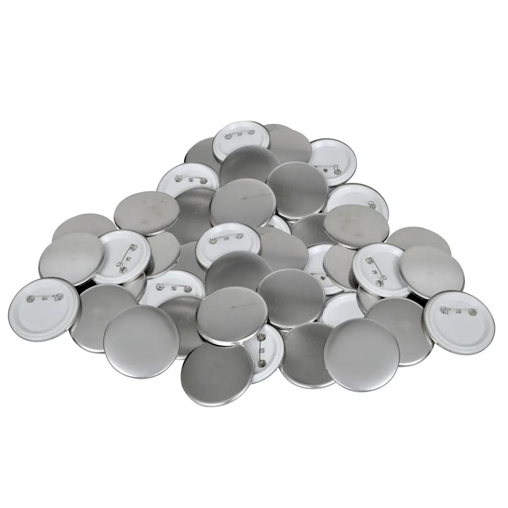 vidaXL 25 mm PinBack Button Parts 500 Sets