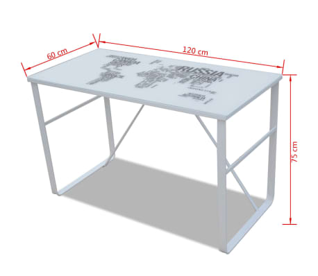 Rectangular Desk with Map Pattern[6/6]