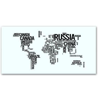 Bureau rectangulaire avec motif de carte du monde[3/6]