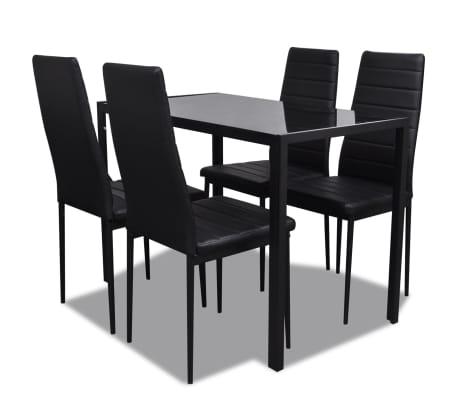 Table a manger avec 4 chaises aspect contemporain[2/6]