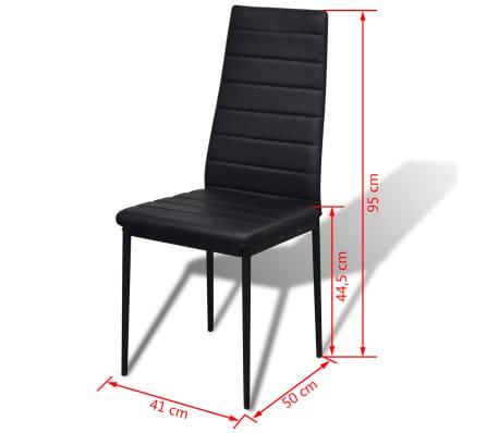 Table a manger avec 4 chaises aspect contemporain[6/6]