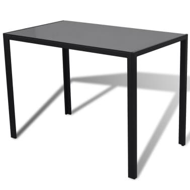 Table a manger avec 4 chaises aspect contemporain[3/6]