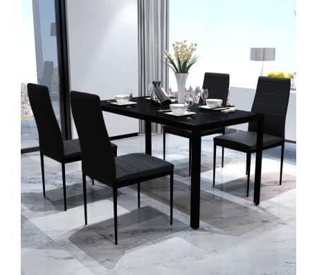 Table a manger avec 4 chaises aspect contemporain[1/6]