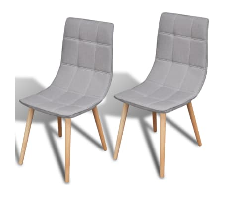 2 pcs Light Grey Dining Chair Set[1/7]