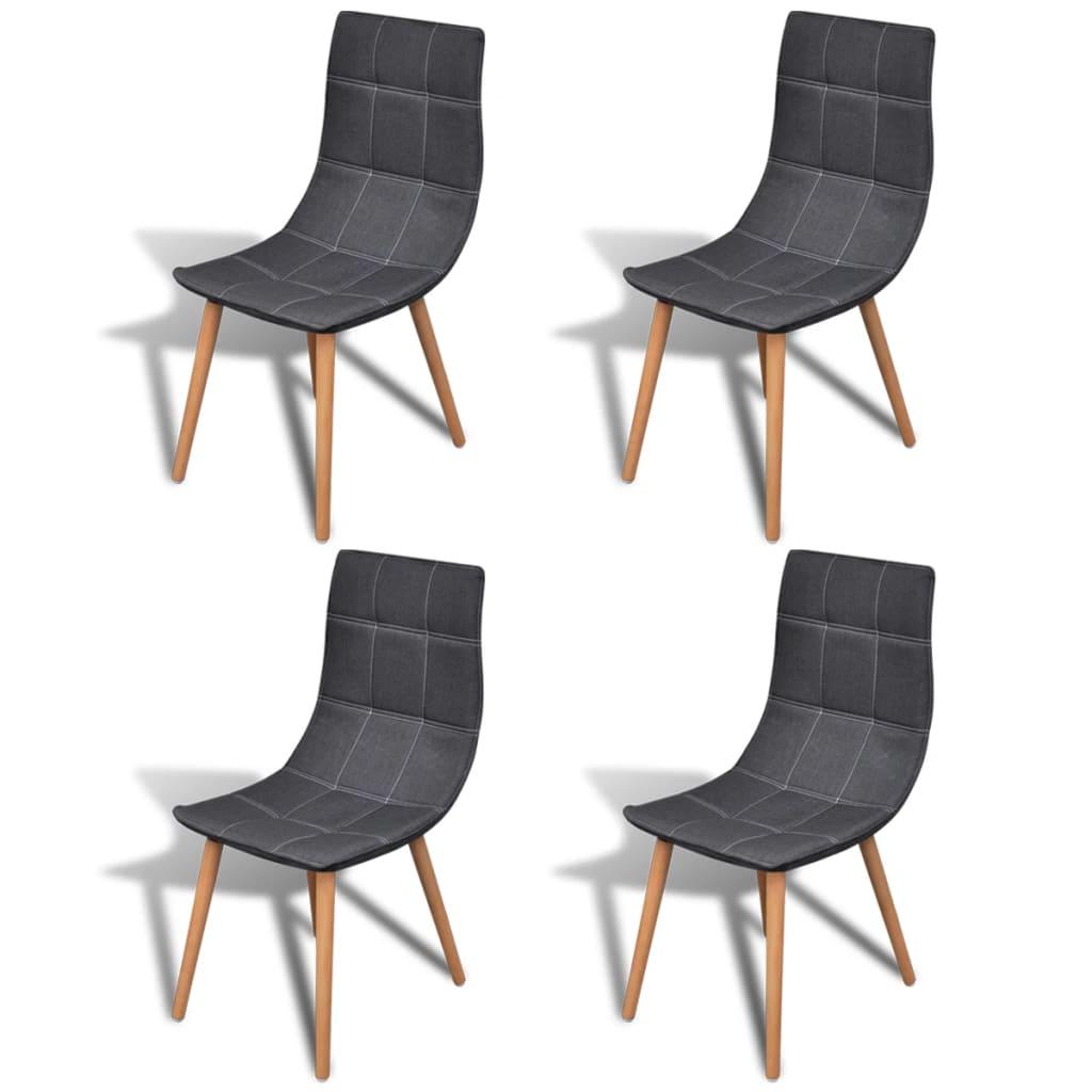 vidaXL Jídelní židle 4 ks tmavě šedá