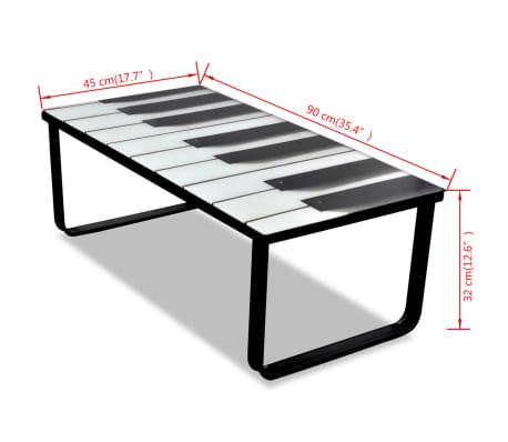 vidaXL Kavos staliukas su stikliniu pianino stalviršiu[7/7]