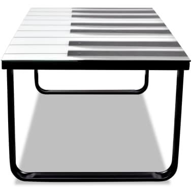vidaXL Kavos staliukas su stikliniu pianino stalviršiu[3/7]