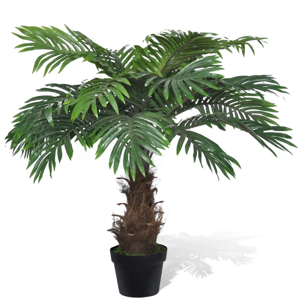Palmier Cycas artificial cu aspect natural și ghiveci 80 cm imagine vidaxl.ro