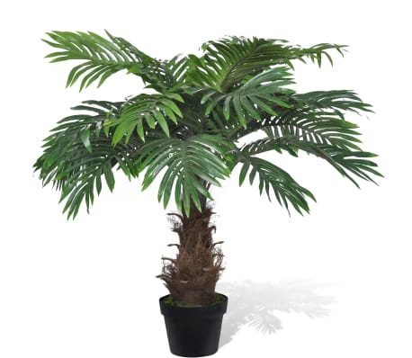 "Lifelike Artificial Cycas Palm Tree with Pot 31""[1/2]"