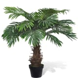 Lifelike Artificial Cycas Palm Tree with Pot 31""