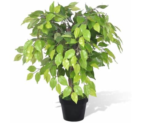 vidaXL Artificial Dwarf Ficus with Pot 60 cm