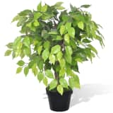 vidaXL Artificial Dwarf Ficus with Pot 60 cm