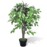 vidaXL Artificial Plant Ficus Tree with Pot 90 cm