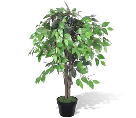 Acheter palmier artificiel plastique avec pot 90 cm pas for Palmier artificiel moins cher
