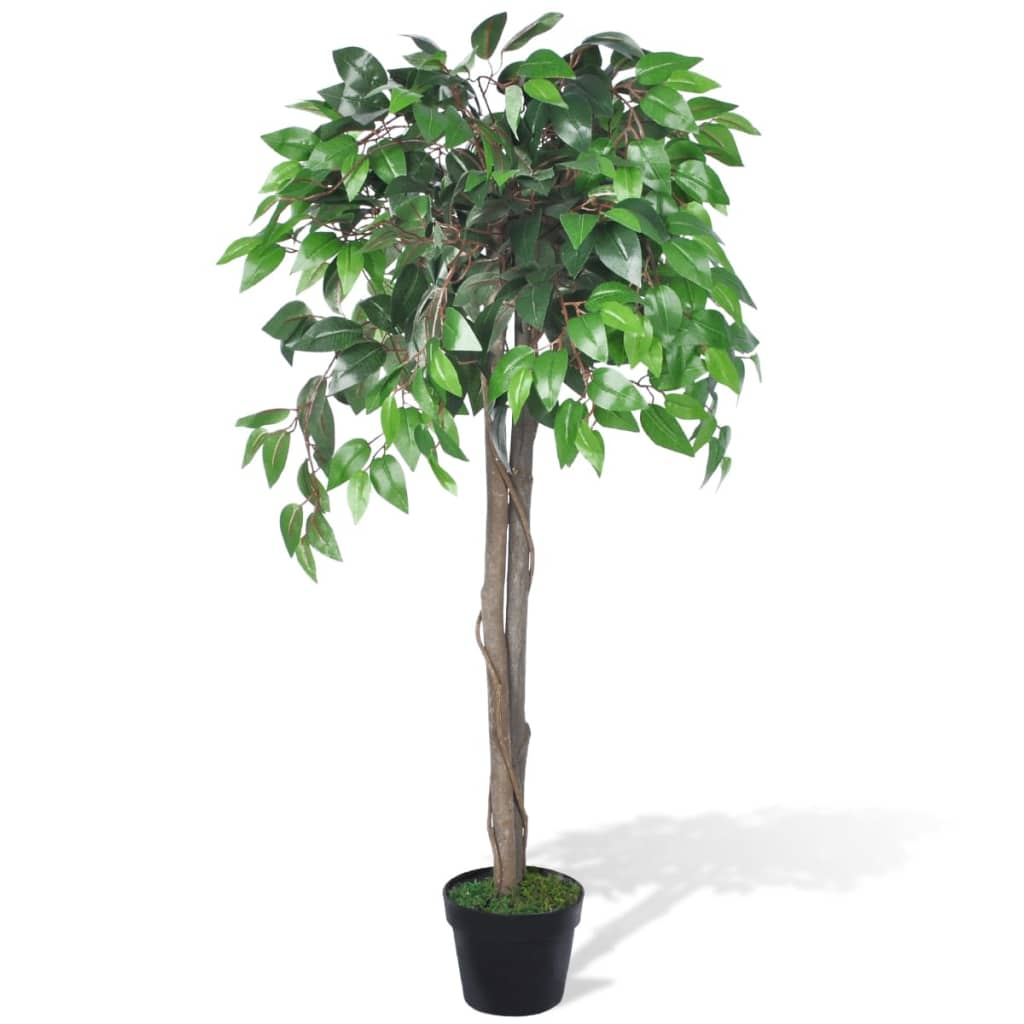 Ficus artificial cu aspect natural și ghiveci, 110 cm imagine vidaxl.ro