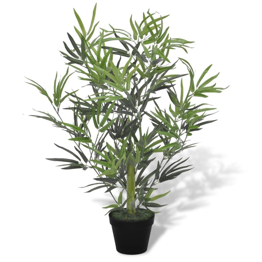 Kunstmatige bamboe plant met pot 80 cm