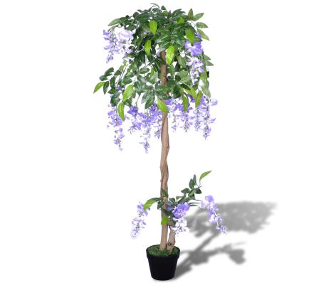 vidaXL Artificial Wisteria with Pot 120 cm-picture