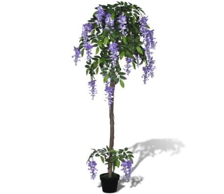 Kunstplant blauwe regen met pot 160 cm[1/2]