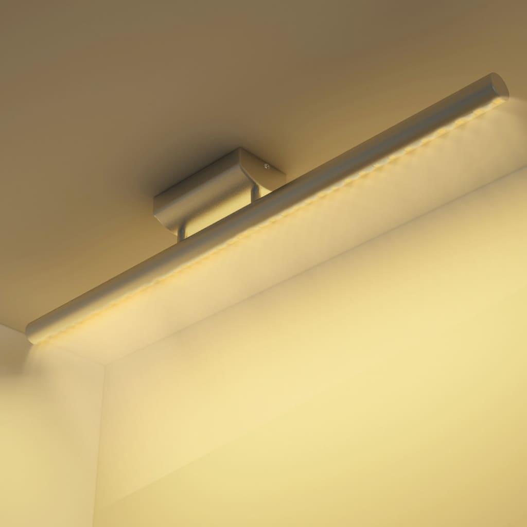 Nerezové stropní LED svítidlo s teplým bílým světlem 9 W