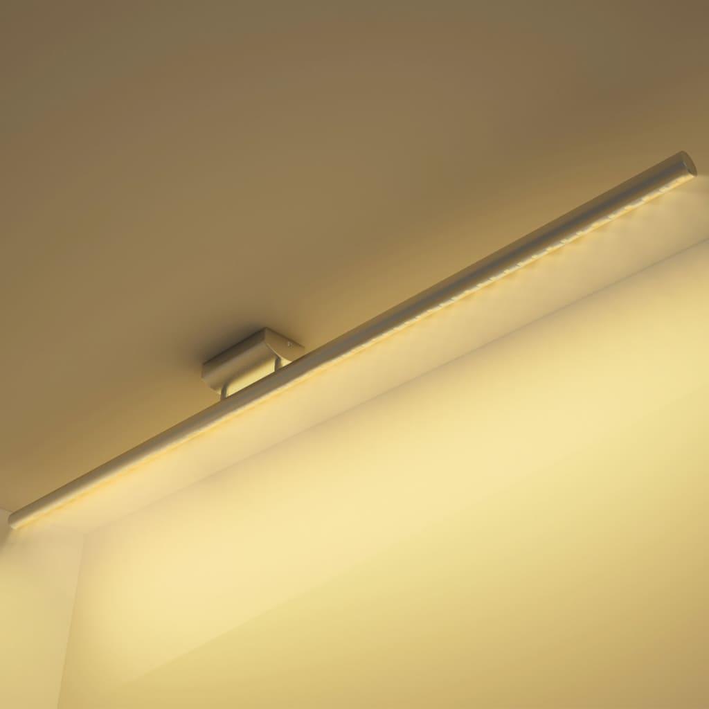 Nerezové stropní LED svítidlo s teplým bílým světlem 15 W