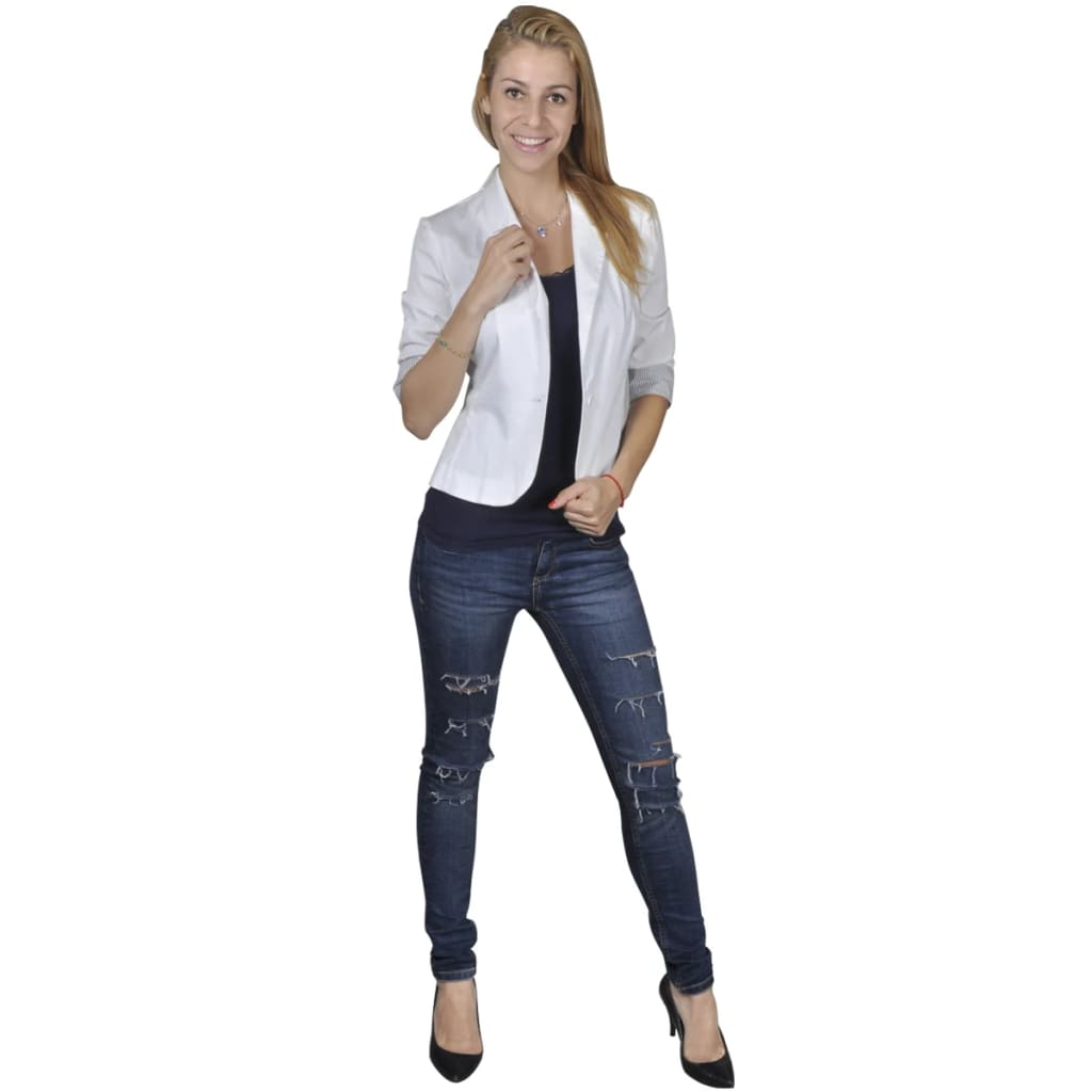 99130237 Blazer Damenjacke Weiß Gr. 40