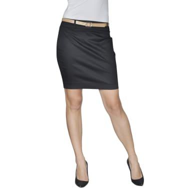 Mini falda con cinturón, Talla 34, Negro[1/4]