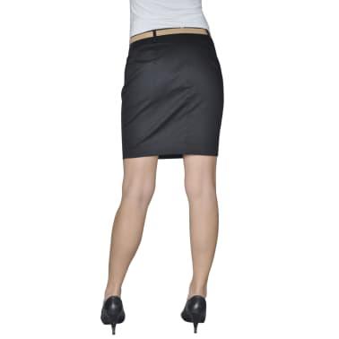 Mini falda con cinturón, Talla 34, Negro[2/4]