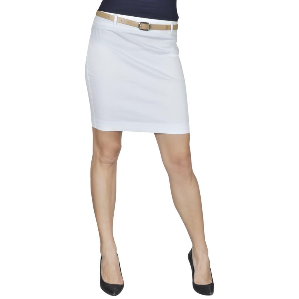 99130246 Minirock mit Gürtel Weiß Gr. 34