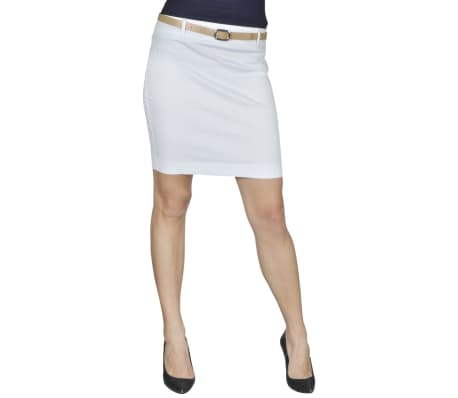 vidaXL Mini Skirt with Belt 34 White