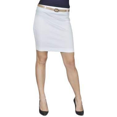 Mini-saia branca de escritório com cinto tamanho 34[1/5]