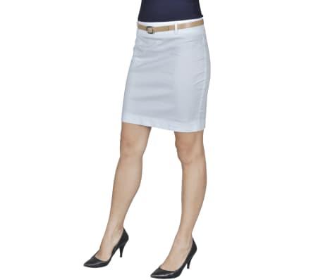 Mini-saia branca de escritório com cinto tamanho 34[2/5]