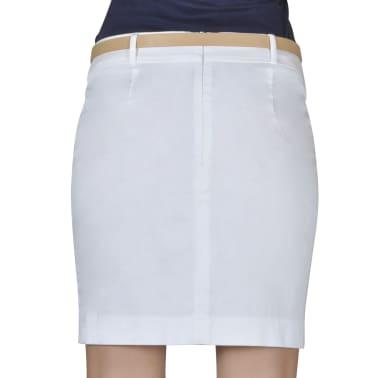 Mini-saia branca de escritório com cinto tamanho 34[3/5]