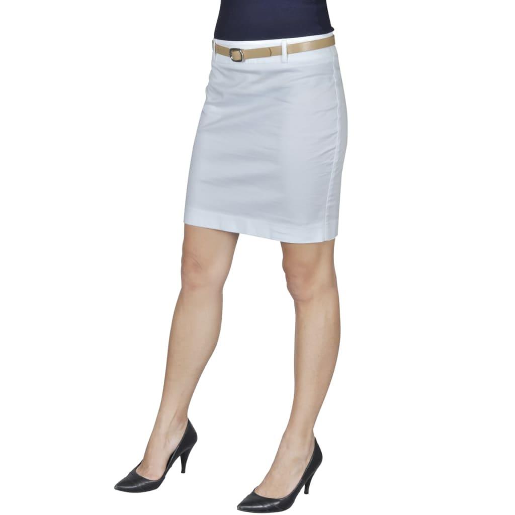 Minisukně s páskem, velikost 36, bílá