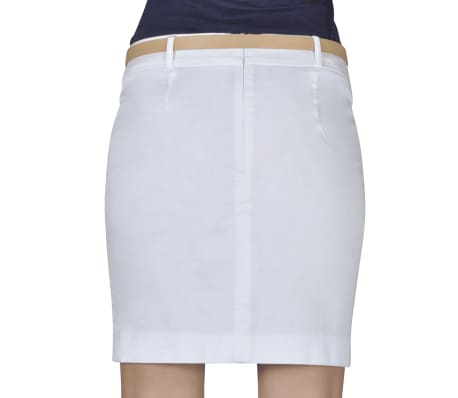 Minirock mit Gürtel Weiß Gr. 40[3/5]