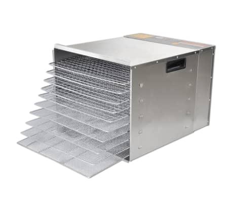 Dehidrator za Sušenje Hrane od Nehrđajućeg Čelika s 10 polica