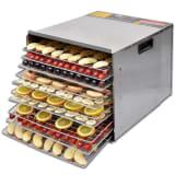 vidaXL Mattorkare med 10 brickor - rostfritt stål