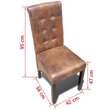 vidaXL Chaise de salle à manger 6 pcs Cuir synthétique[6/6]