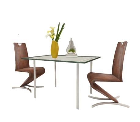 Vidaxl 2x sedia cantilever in similpelle marrone ad h seggiola sedia a sbalzo ebay - Sedia cantilever ...