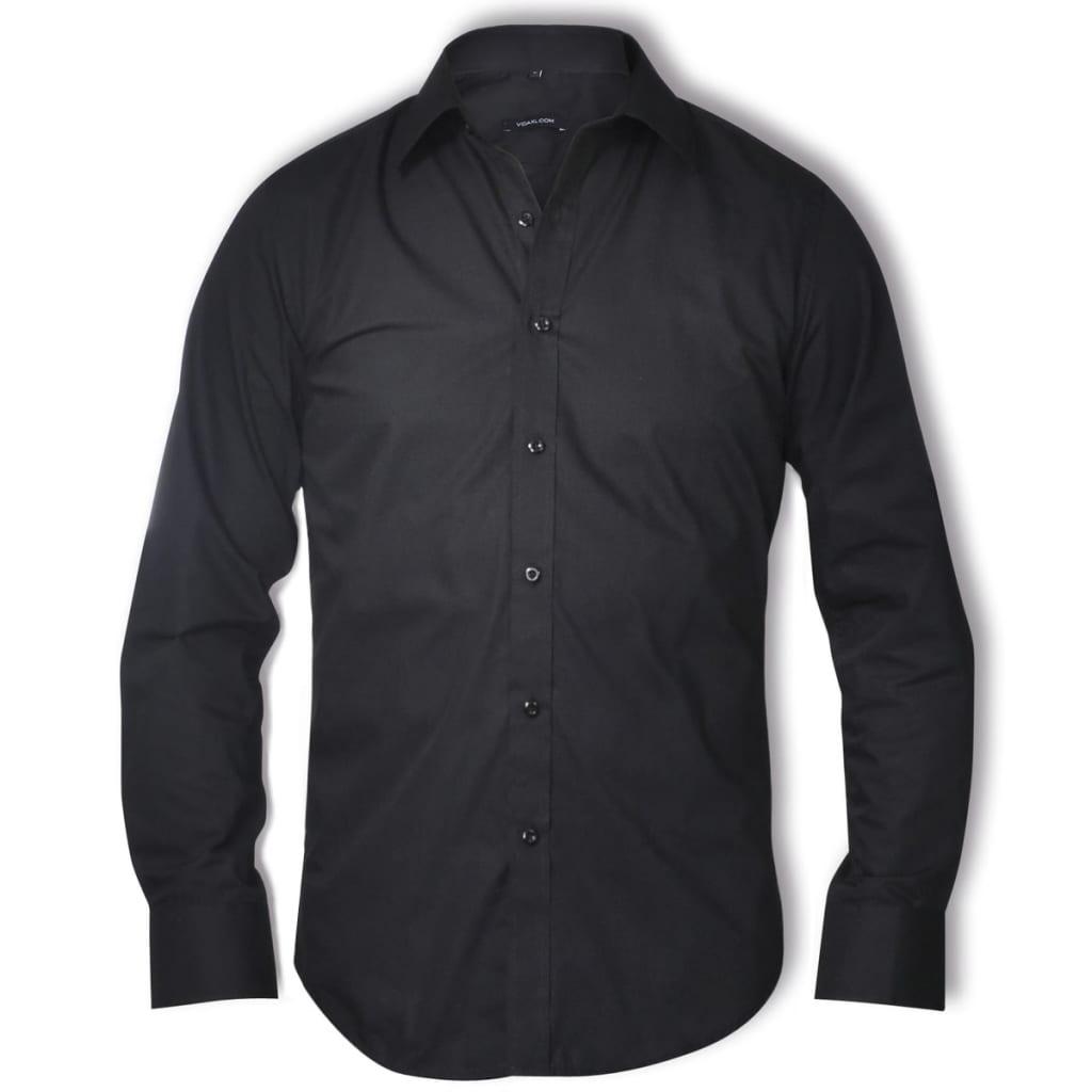 Pánská business košile, velikost M, černá