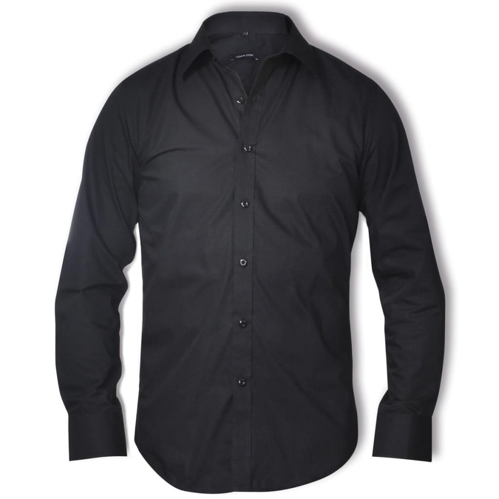 Pánská business košile, velikost L, černá