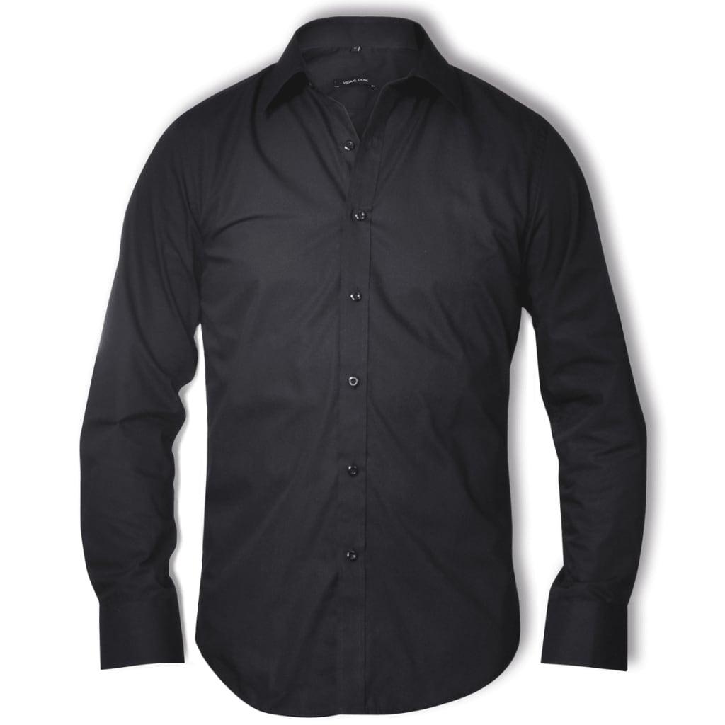 Pánská business košile, velikost XL, černá