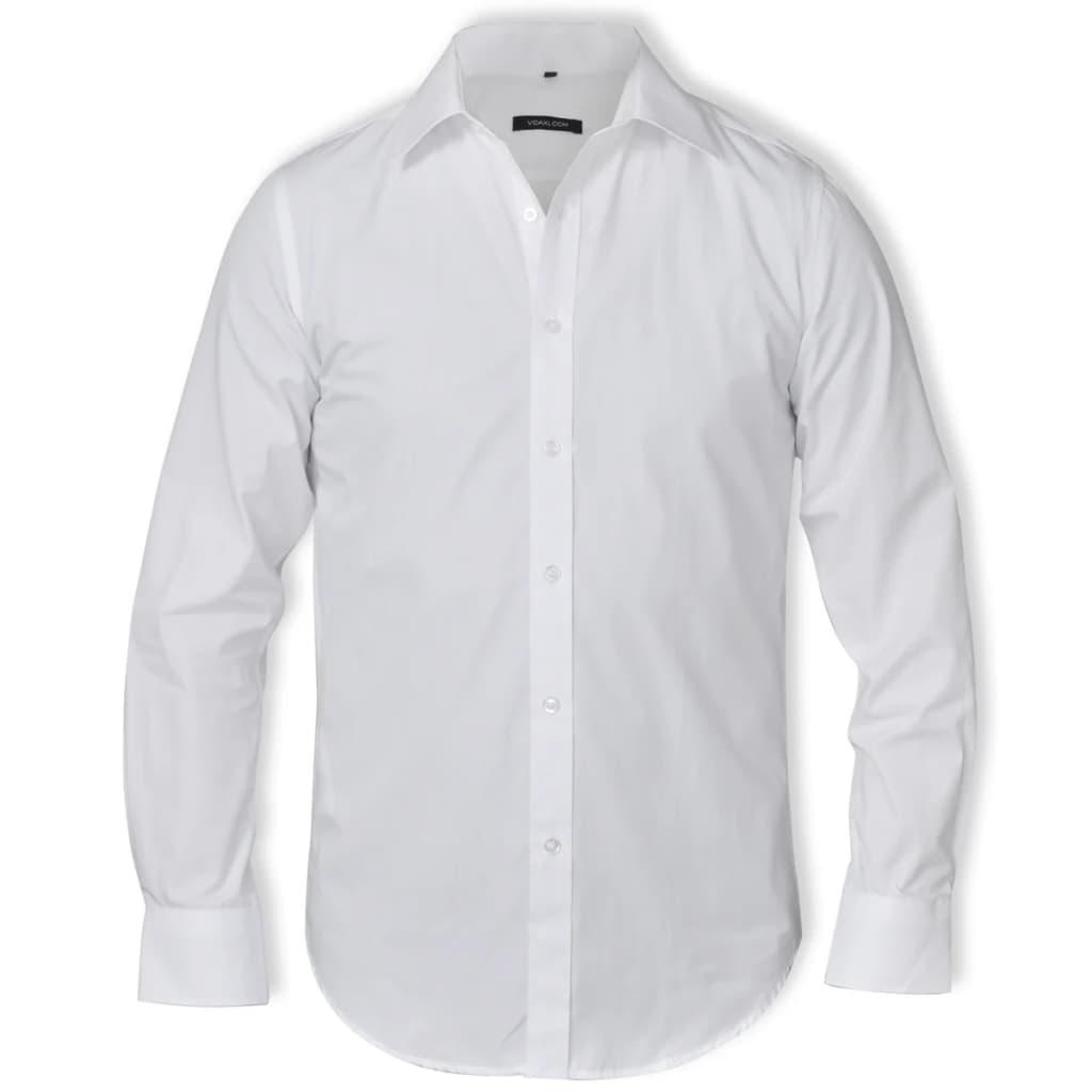 Pánská business košile, velikost M, bílá