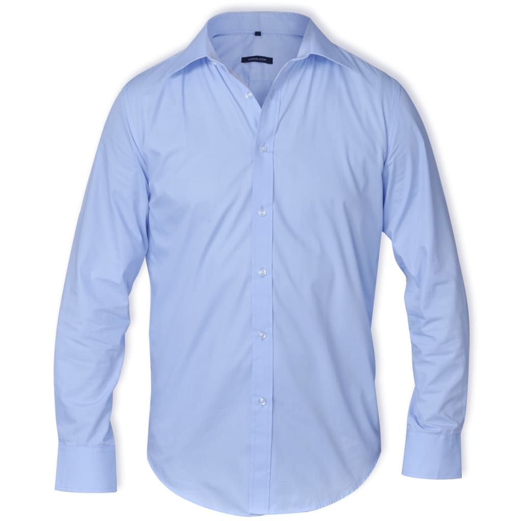 99130261 Herren Langarmhemd Business Größe M Hellblau