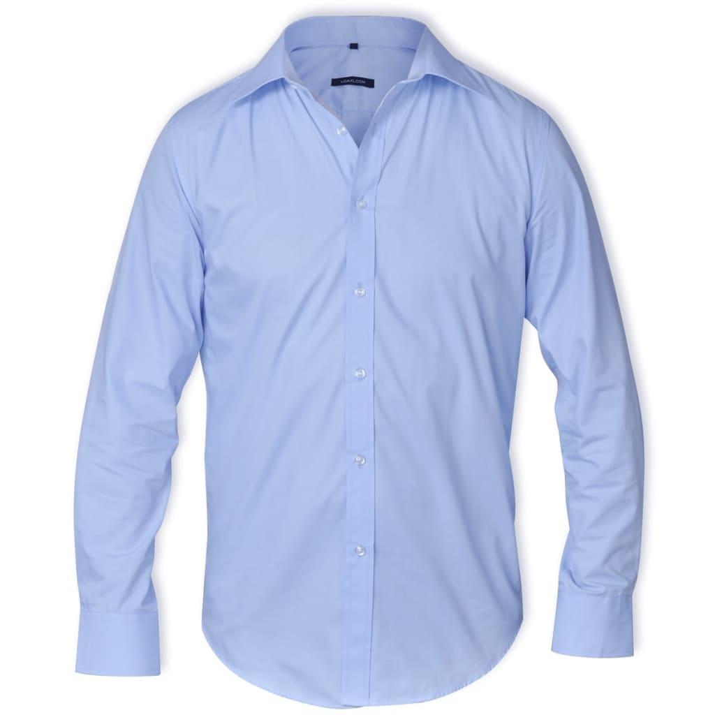 Pánská business košile, velikost XL, světle modrá