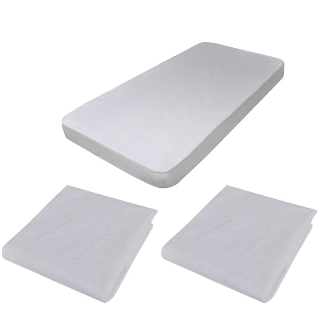2 x Vodotěsný ochranný kryt pro matrace 140 x 70 cm