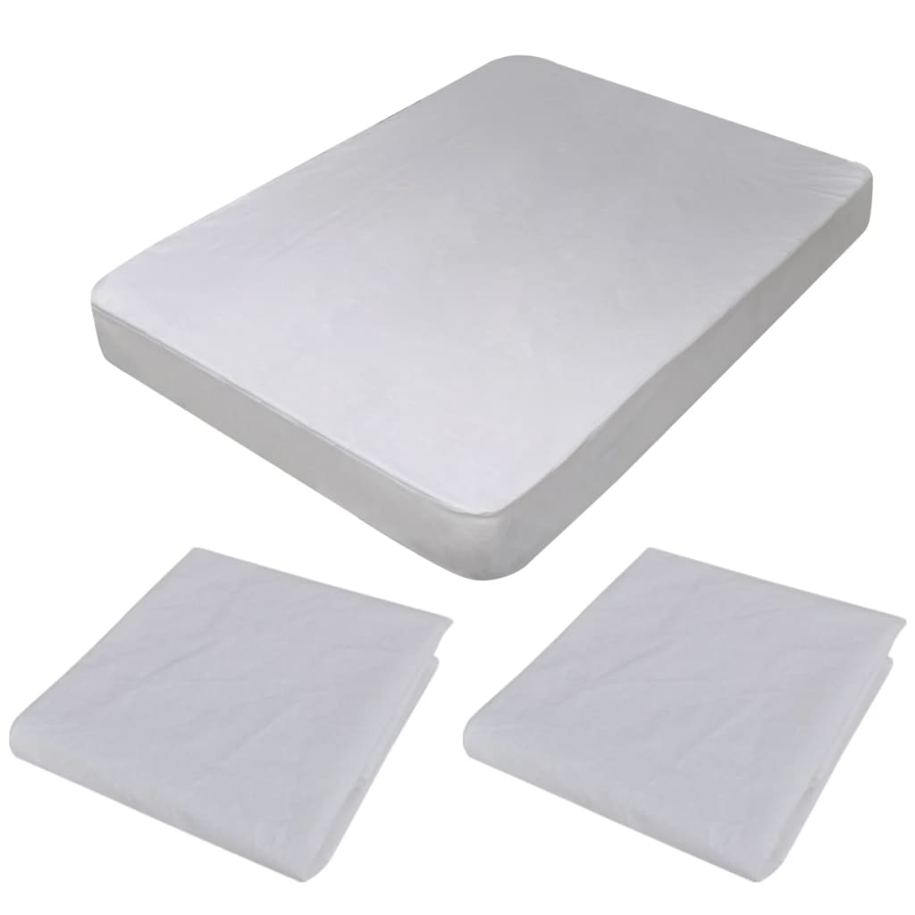 2 x Vodotěsný ochranný kryt pro matrace 200 x 180 cm