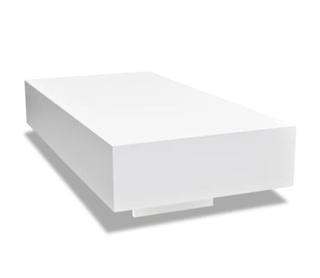 Table basse laquée haute brillance Blanc 115 cm[2/5]